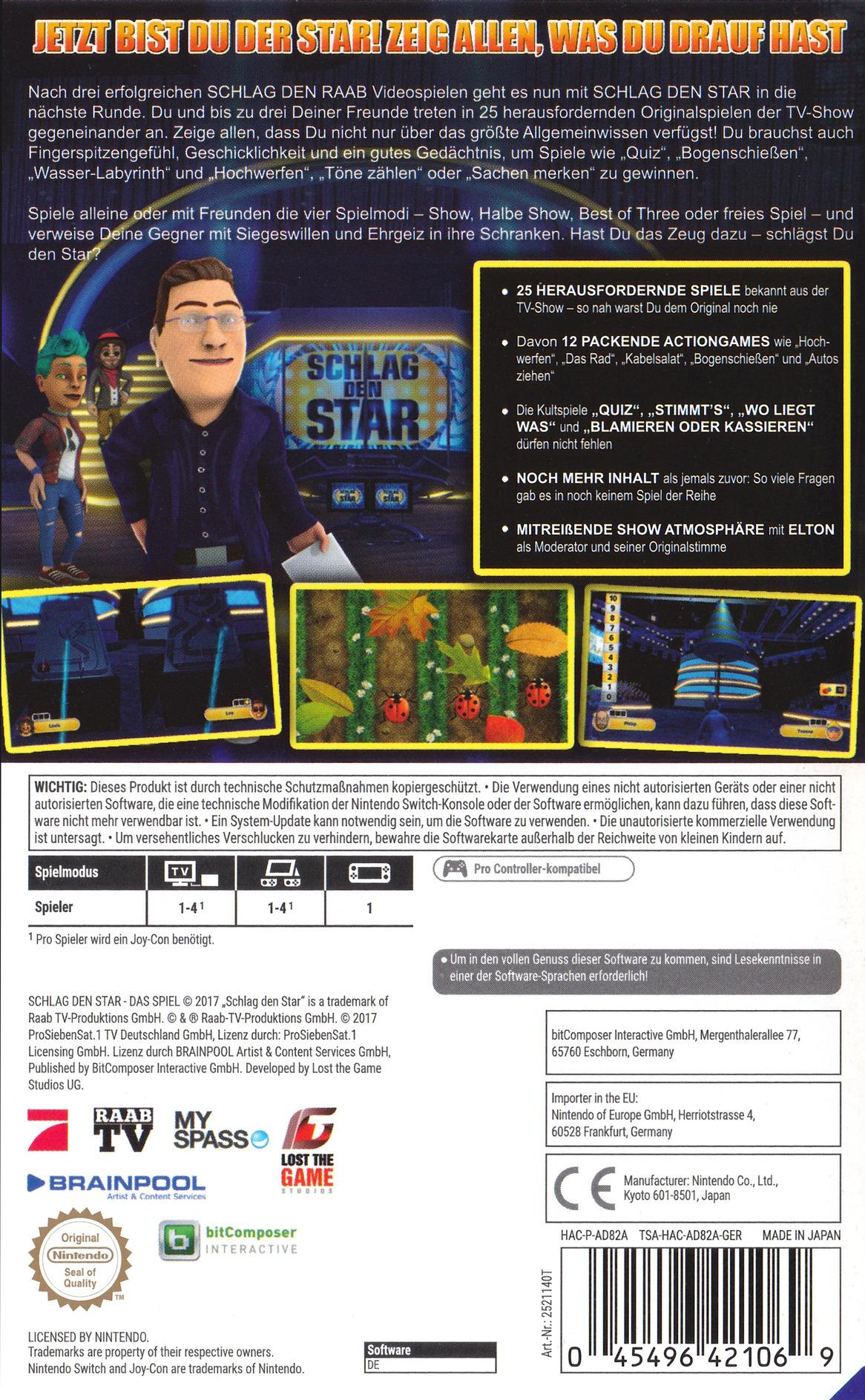 Schlag den Star - Das Spiel Switch backHQ (AD82A)