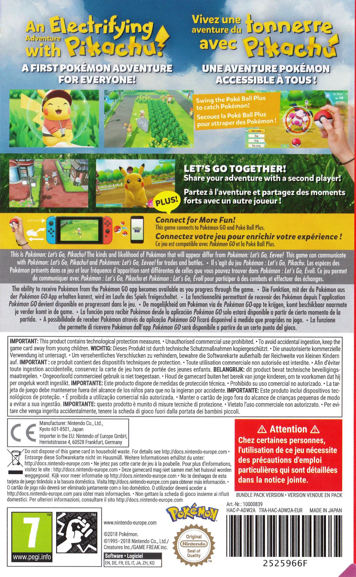 Pokémon:Let's Go, Pikachu Switch backHQ (ADW2A)