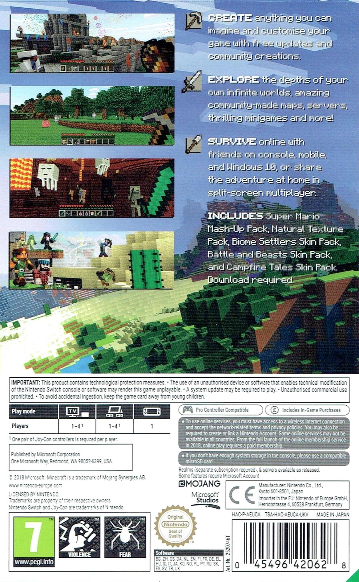 Minecraft Switch backHQ (AEUCA)