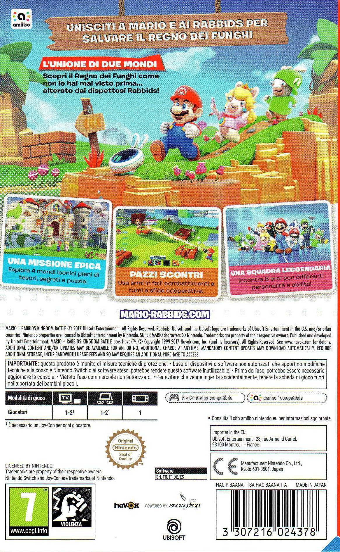 Mario + Rabbids Kingdom Battle Switch backHQ (BAANA)