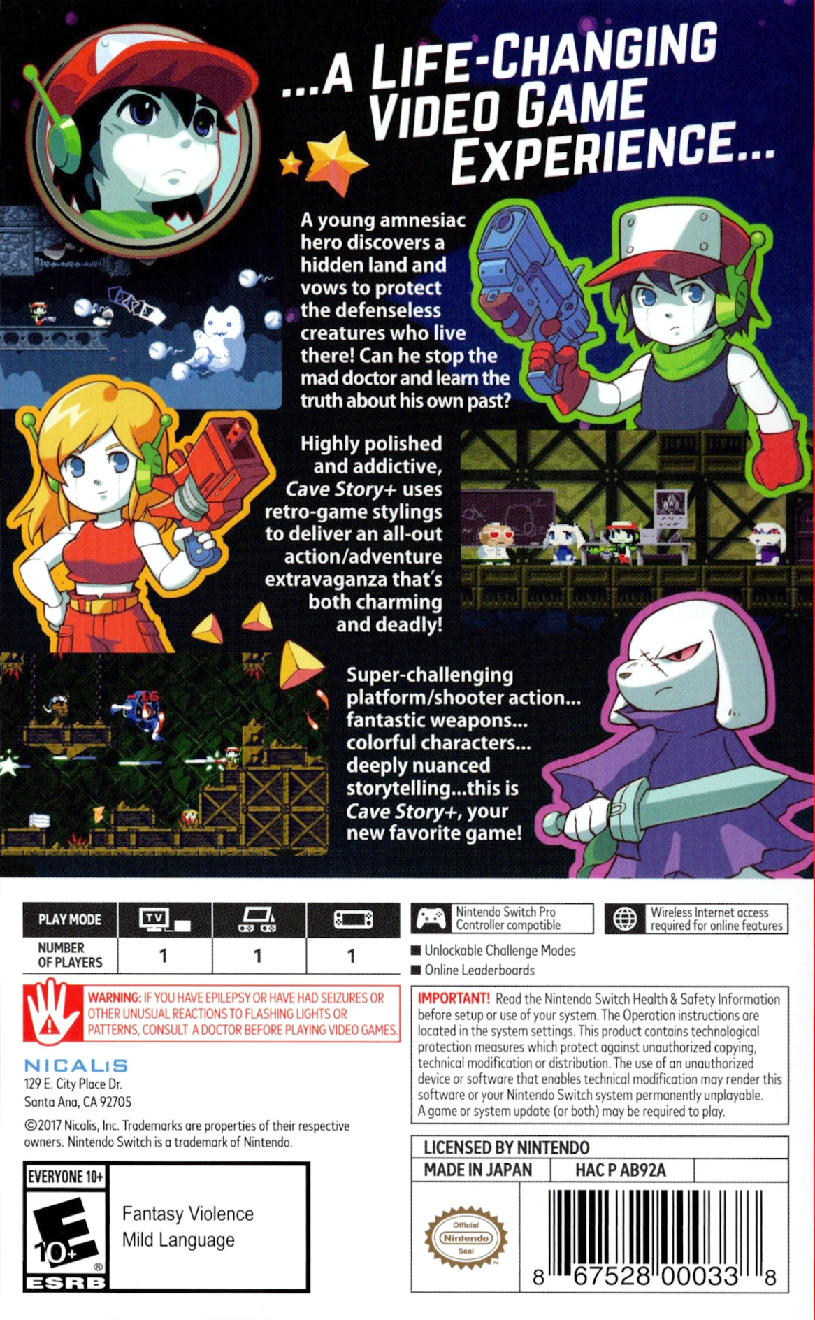 Cave Story+ Switch backHQ (AB92A)