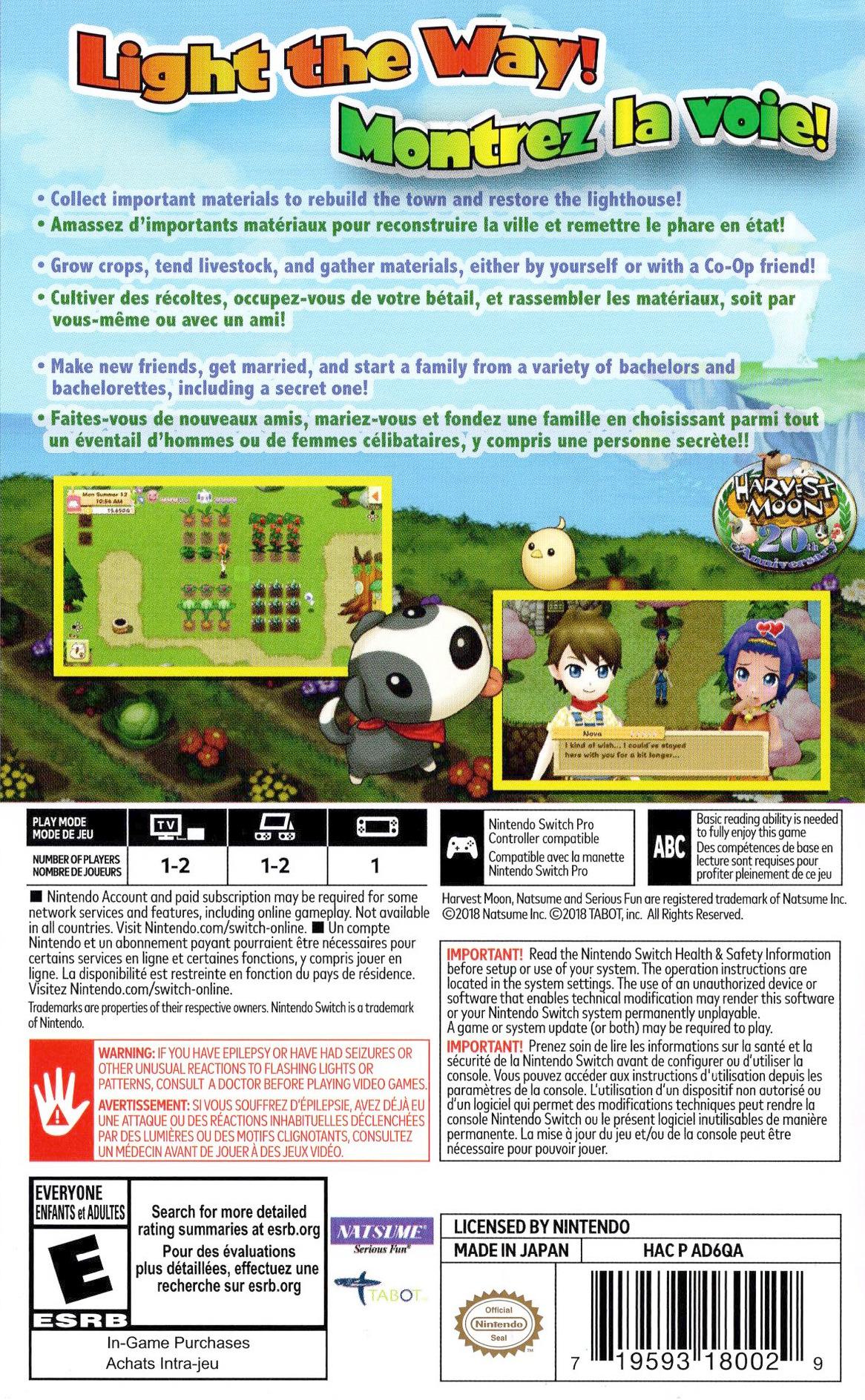 AD6QA - Harvest Moon: Light of Hope - Special Edition