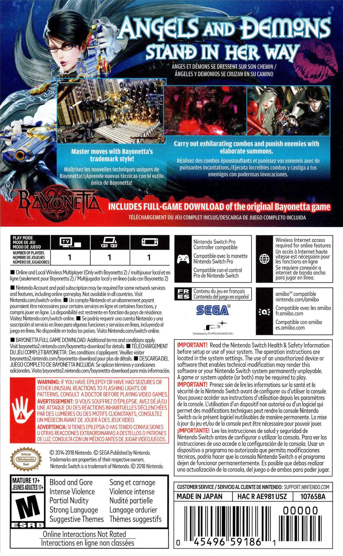 Bayonetta 2 Switch backHQ (AE98A)