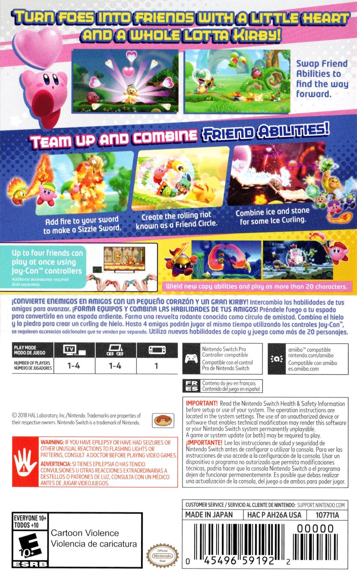 Kirby Star Allies Switch backHQ (AH26A)