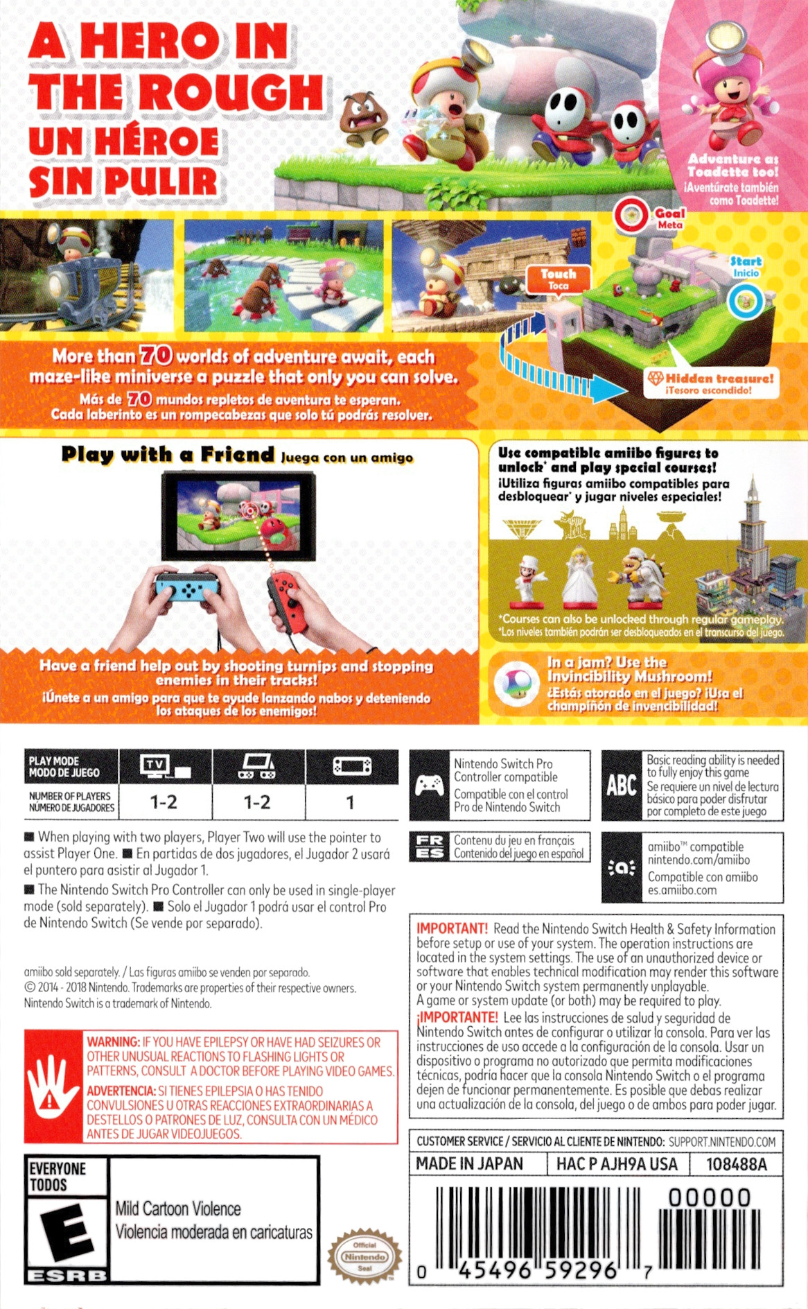 Captain Toad: Treasure Tracker Switch backHQ (AJH9A)