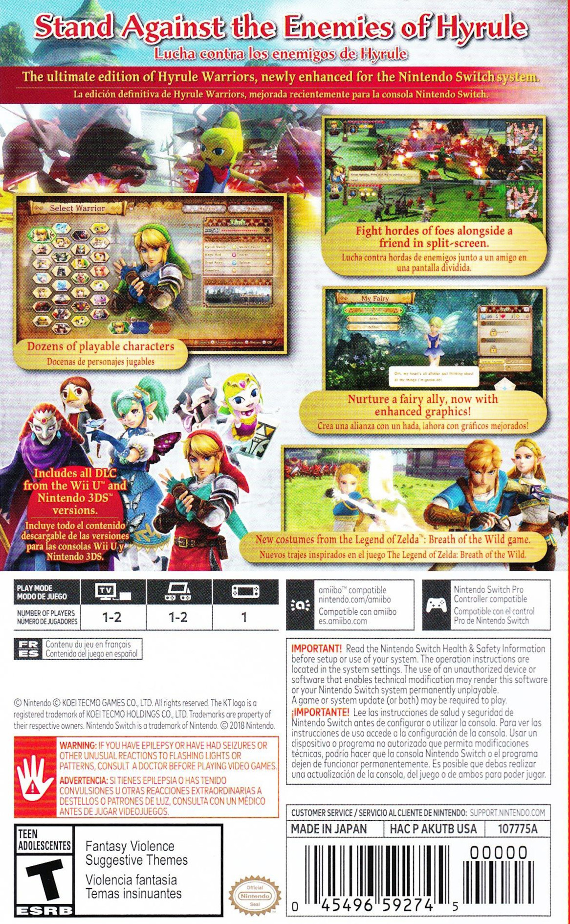 Hyrule Warriors: Definitive Edition Switch backHQ (AKUTB)