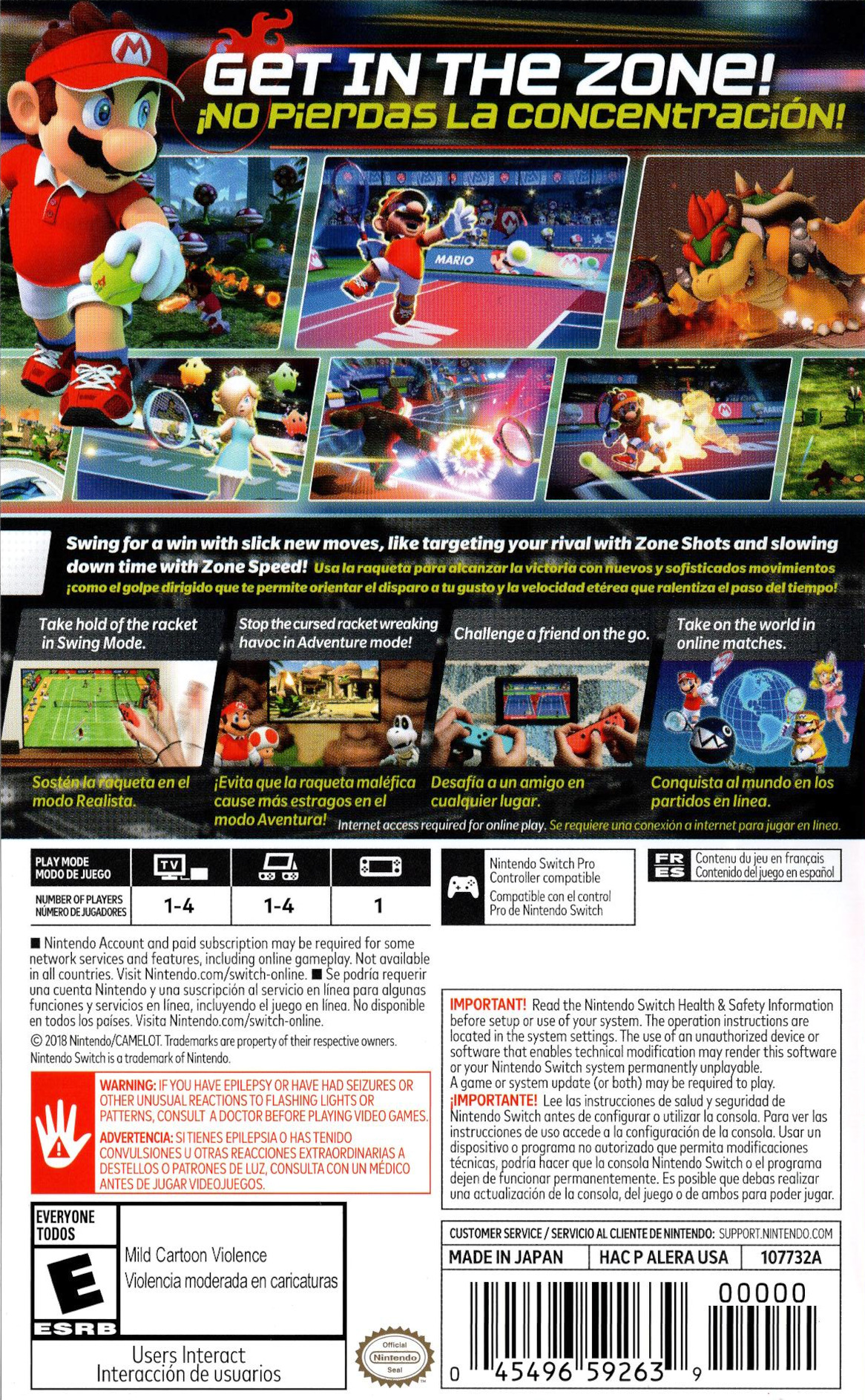 Mario Tennis Aces Switch backHQ (ALERA)