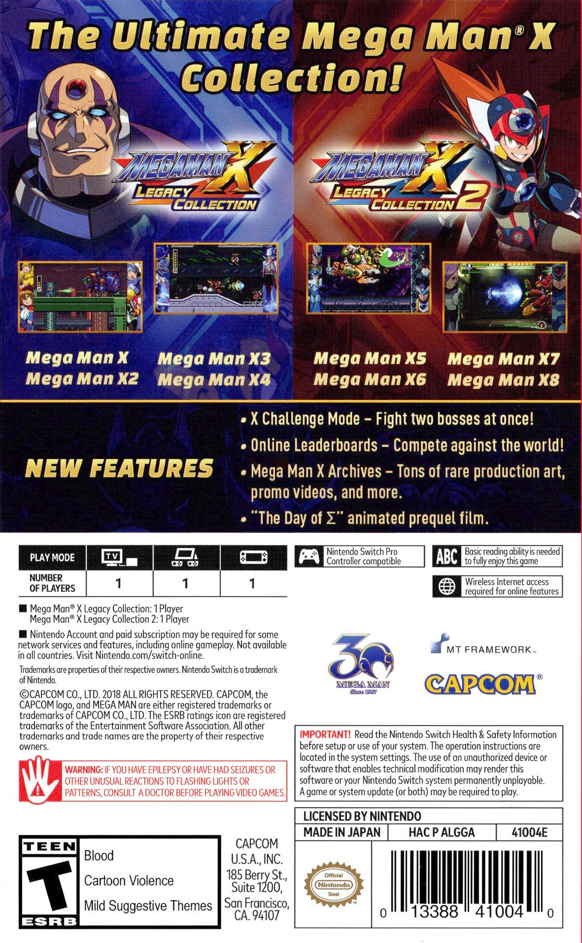 Mega Man X Legacy Collection Switch backHQ (ALGGA)