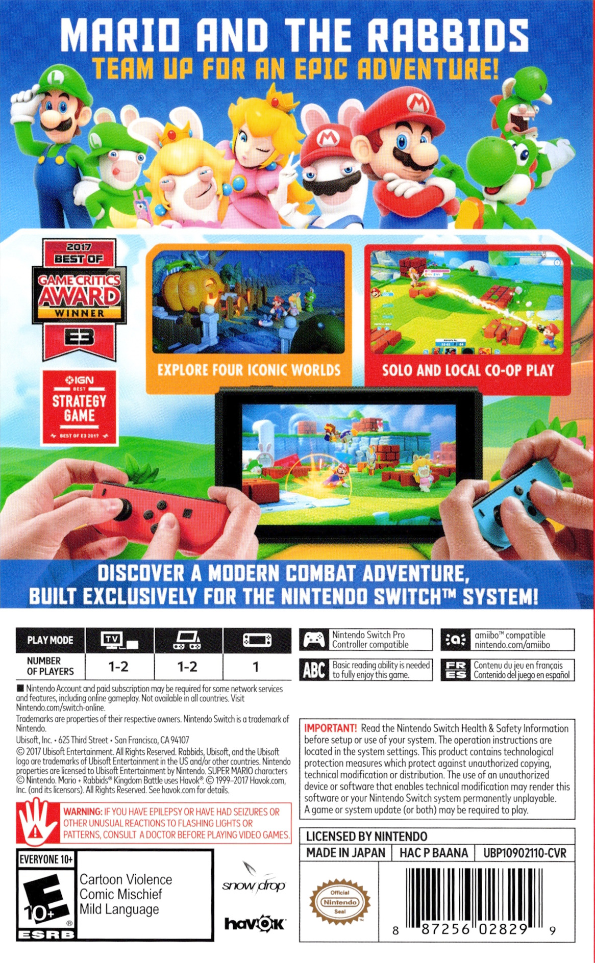 Mario + Rabbids: Kingdom Battle Switch backHQ (BAANA)