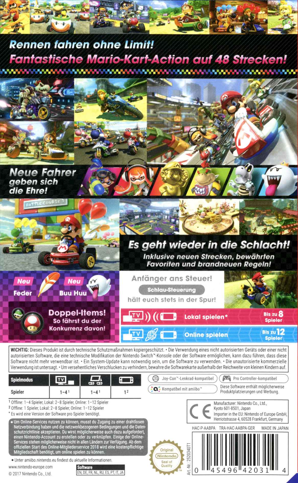 Mario Kart 8 Deluxe Switch backHQB (AABPA)