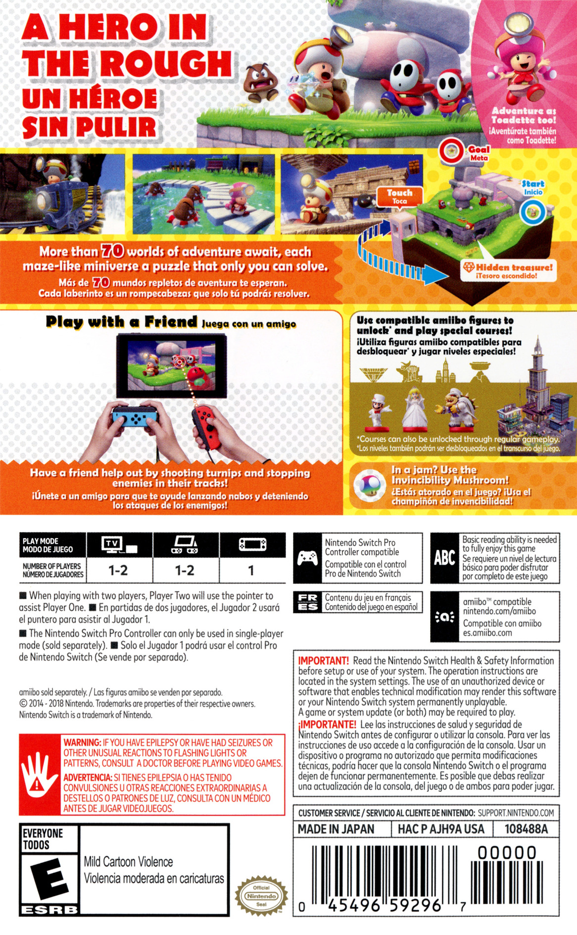 Captain Toad: Treasure Tracker Switch backHQB (AJH9A)