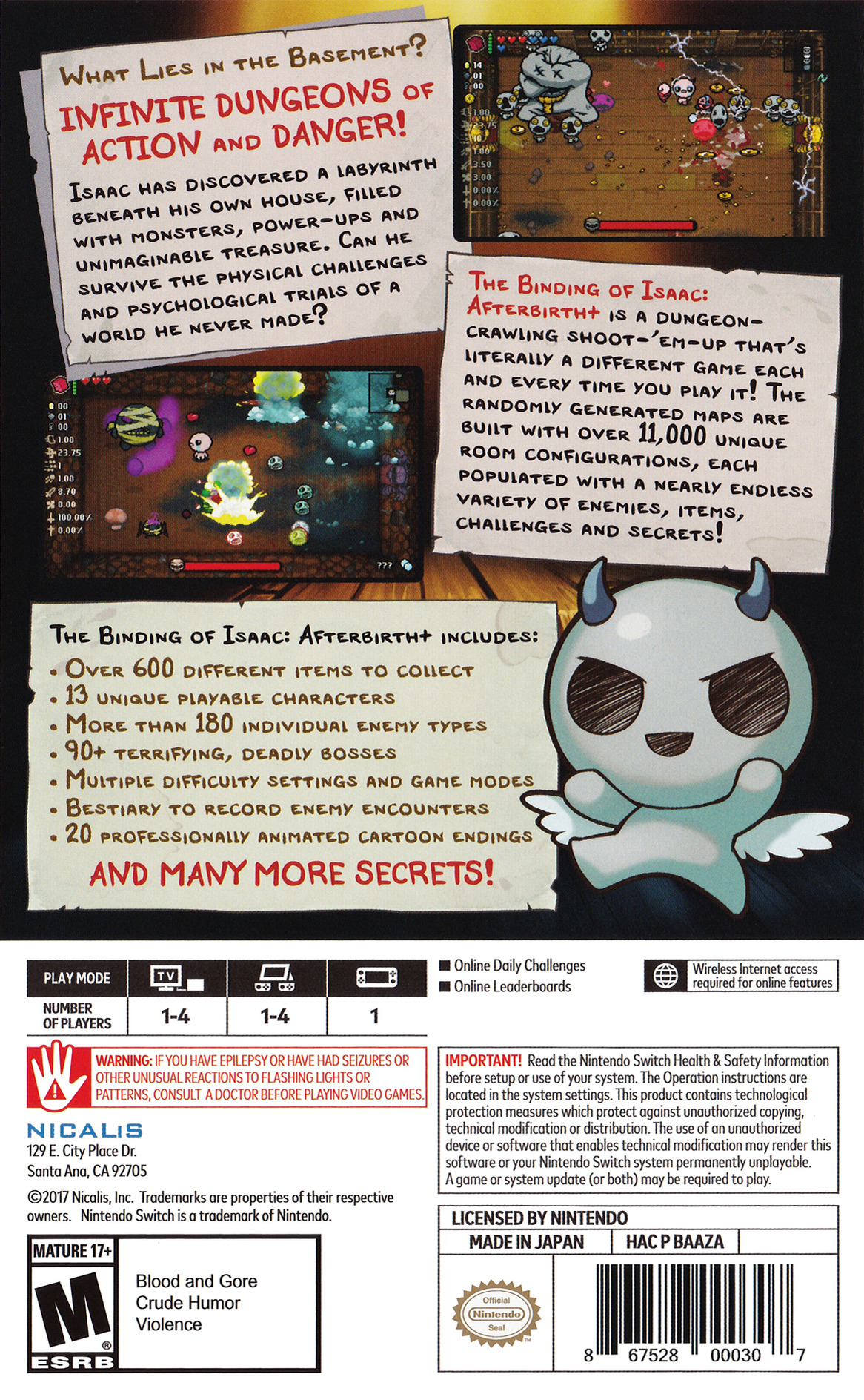 The Binding of Isaac: Afterbirth+ Switch backHQB (BAAZA)