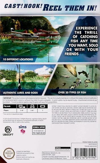 Legendary Fishing Switch backM (AQLGA)