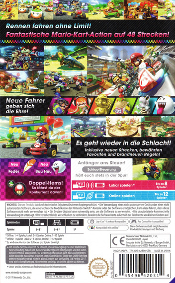 Mario Kart 8 Deluxe Switch backM (AABPA)