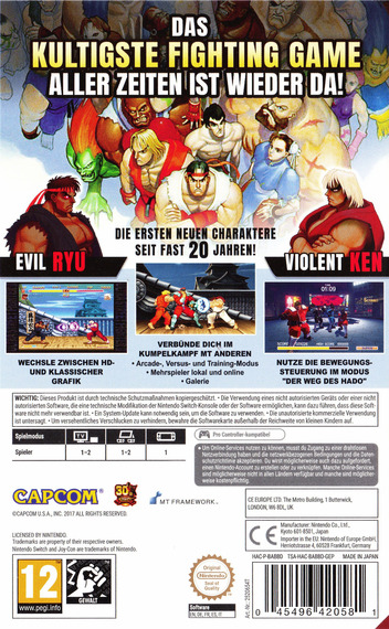 Ultra Street Fighter II: The Final Challengers Switch backM (BABBD)