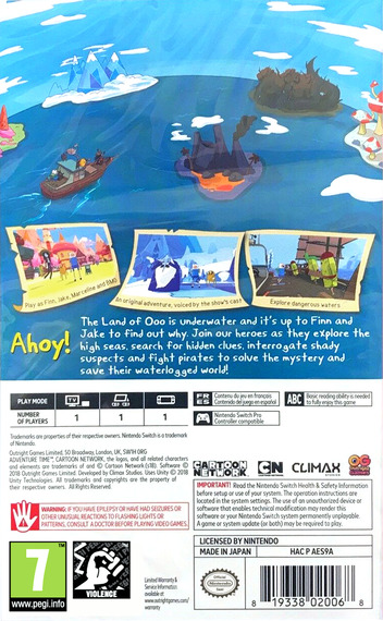 Adventure Time - Pirates of the Enchiridion Switch backM (AES9A)