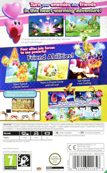 Kirby Star Allies Switch backM (AH26A)