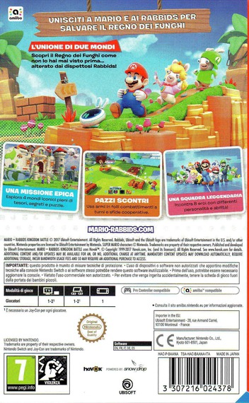 Mario + Rabbids Kingdom Battle Switch backM (BAANA)