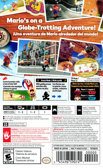 Super Mario Odyssey Switch backM (AAACA)