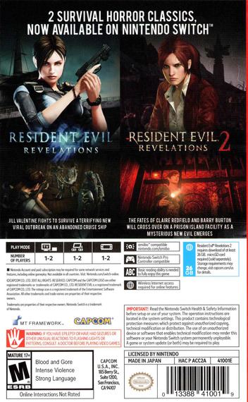 Resident Evil: Revelations Collection Switch backM (ACC2A)