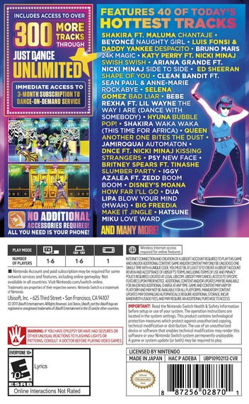 Just Dance 2018 Switch backM (ADEBA)