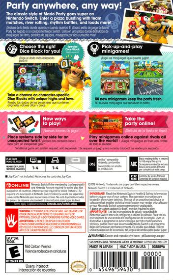 Super Mario Party Switch backM (ADFJA)