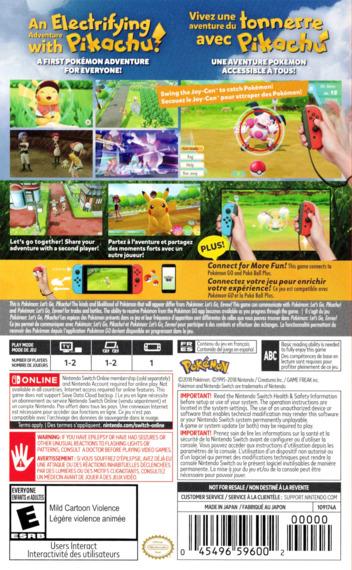 Pokémon:Let's Go, Pikachu Switch backM (ADW2A)
