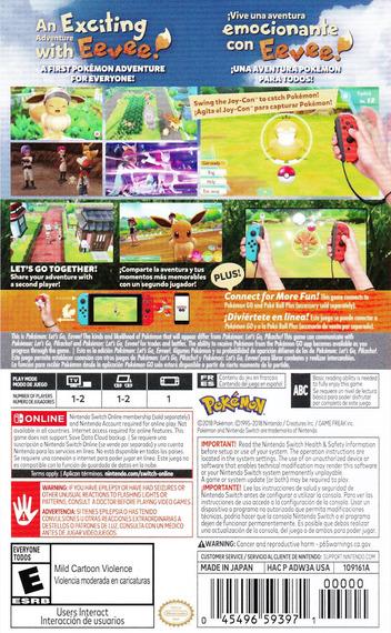 Pokémon: Let's Go, Eevee! Switch backM (ADW3A)