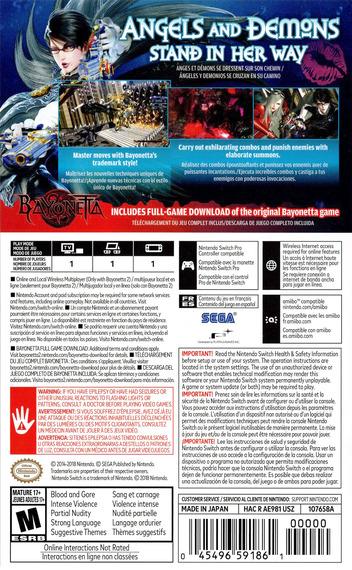 Bayonetta 2 Switch backM (AE98A)