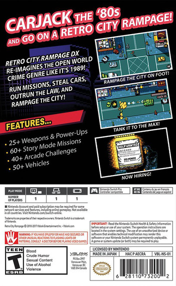 Retro City Rampage DX Switch backM (AECRA)