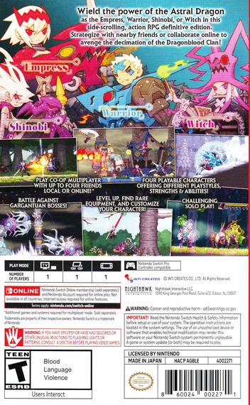 Dragon Marked for Death Switch backM (AGBLE)