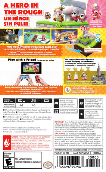 Captain Toad: Treasure Tracker Switch backM (AJH9A)