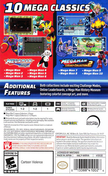 Mega Man Legacy Collection Switch backM (AKRVA)