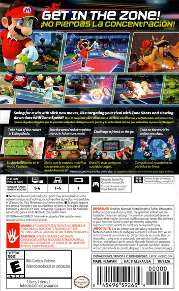 Mario Tennis Aces Switch backM (ALERA)