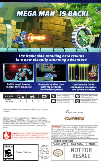 Mega Man 11 Switch backM (ALGCA)