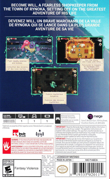 Moonlighter Switch backM (AQE3A)