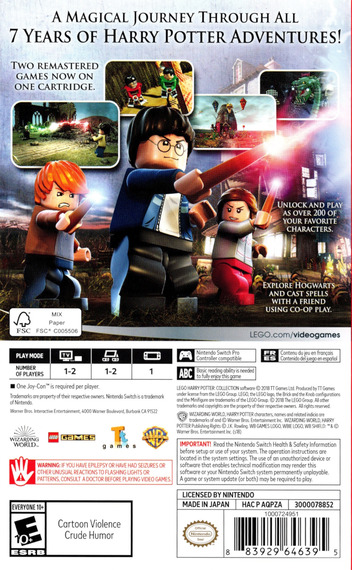 LEGO Harry Potter Collection Switch backM (AQPZA)