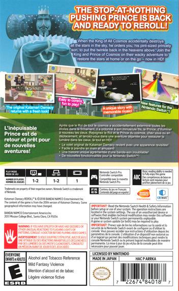 Katamari Damacy REROLL Switch backM (ARRKA)