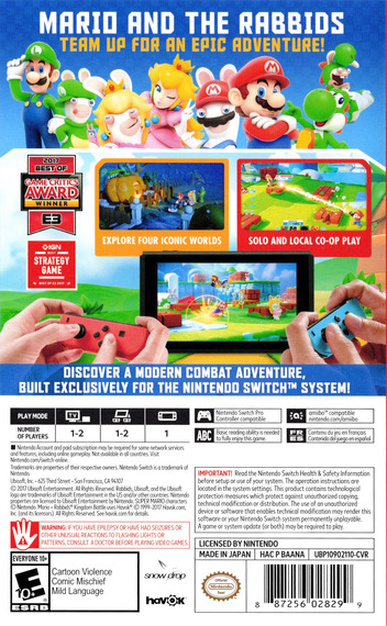 Mario + Rabbids: Kingdom Battle Switch backM (BAANA)