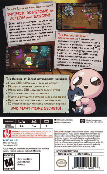 The Binding of Isaac: Afterbirth+ Switch backM (BAAZA)