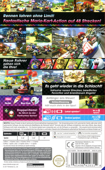 Mario Kart 8 Deluxe Switch backMB (AABPA)