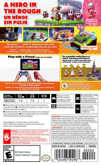 Captain Toad: Treasure Tracker Switch backMB (AJH9A)