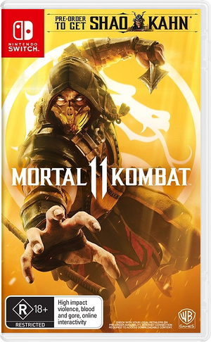 Mortal Kombat 11 Switch cover (ASADA)