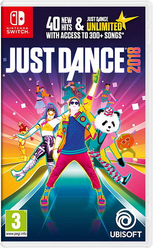 Just Dance 2018 Switch cover (ADEBA)
