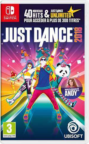 Just Dance 2018 pochette Switch (ADEBA)