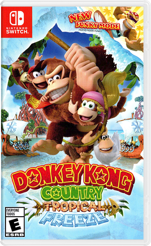 Donkey Kong Country: Tropical Freeze Switch cover (AFWTA)