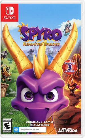 Spyro Reignited Trilogy Switch cover (AT3CA)