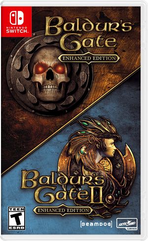 Baldur's Gate and Baldur's Gate II: Enhanced Editions Switch cover (ATNRA)