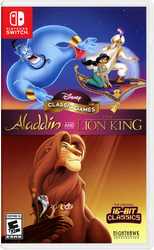 Disney Classic Games: Aladdin and The Lion King Switch cover (AVEPA)