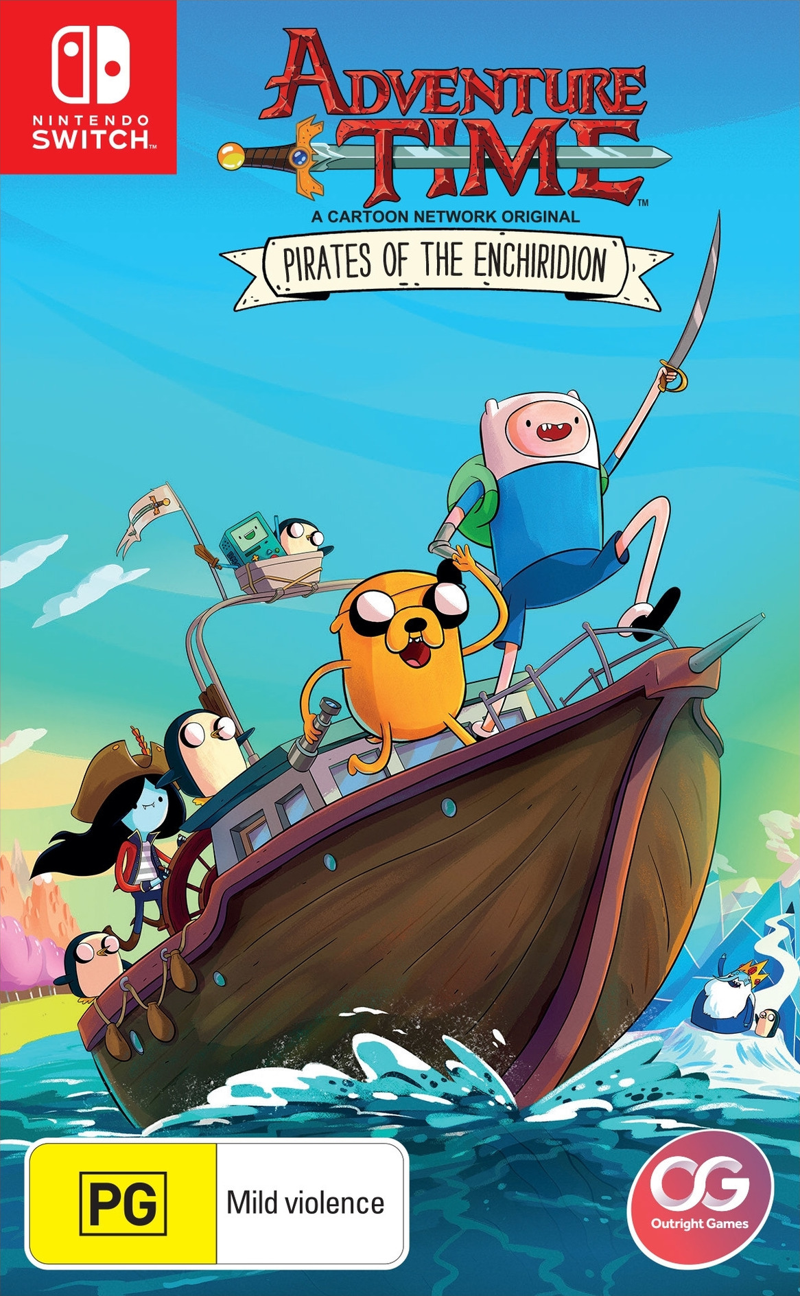 Adventure Time - Pirates of the Enchiridion Switch coverHQ (AES9A)